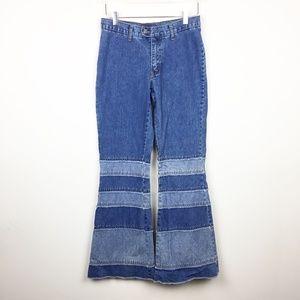 Zana Di   Vintage 1990s Flare Boho Patchwork Jeans